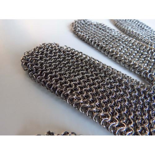 Gant en maille d'acier inoxydable avec 5 doigts, vendu à l'unité.