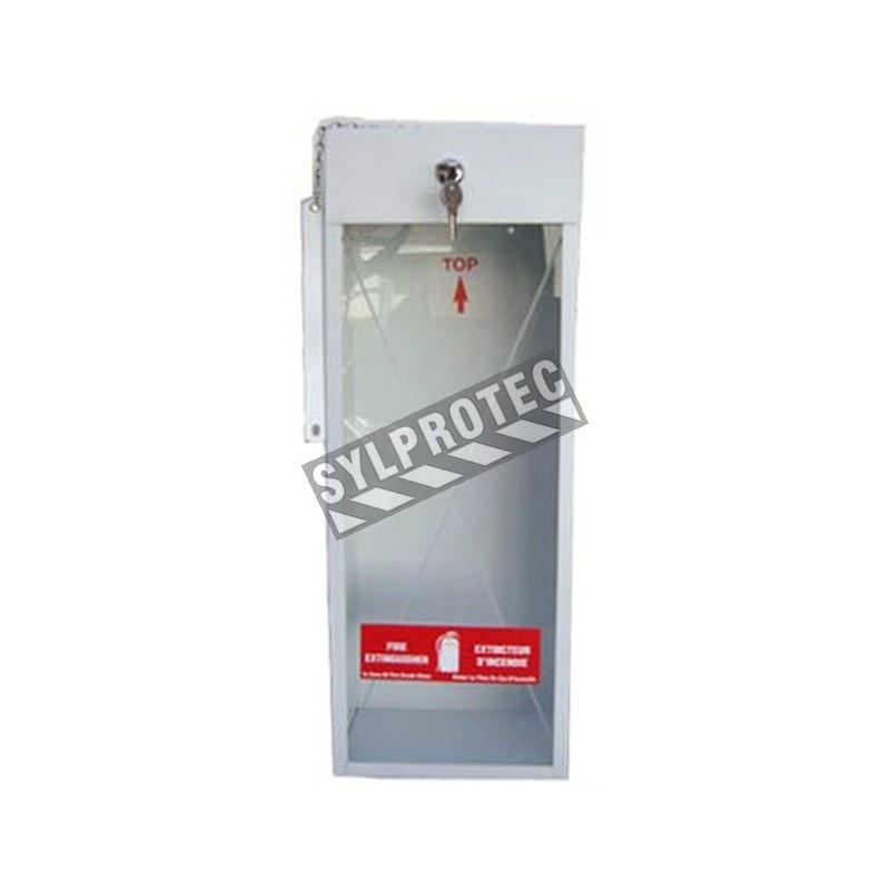 Cabinet de surface en acier pour extincteurs de  5 lbs à poudre.