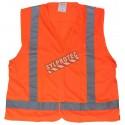 Fluorescent orange safety vest, sport mesh fabric, CSA Z96 class 2 level 2.