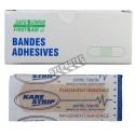 "Plastic adhesive bandages, beige, 2 x 7.5 cm (3/4"" x 3""), 25/box."