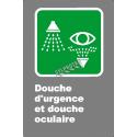 Affiche CSA «Douche d'urgence et oculaire» en français, formats & matériaux divers, d'autres langues & options