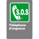 "French CSA ""S.O.S. Emergency Phone"" sign in various sizes, shapes, materials & languages + options"
