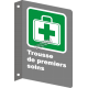 "French CSA ""First Aid Kit"" sign in various sizes, shapes, materials & languages + optional features"