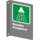"""French CSA """"Emergency Shower"""" sign in various sizes, shapes, materials & languages + optional features"""