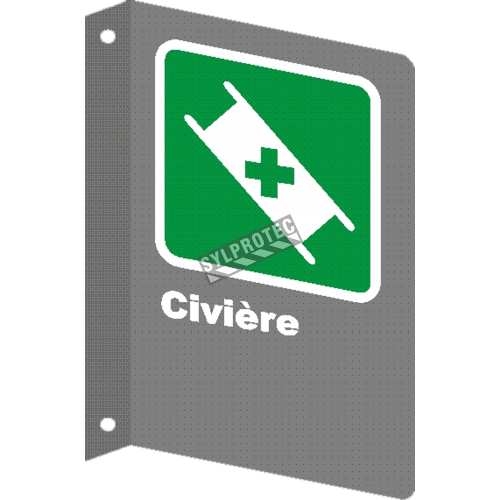 "French CSA ""Stretcher"" sign in various sizes, shapes, materials & languages + optional features"