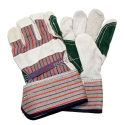 Horizon™ double palm split-leather and cotton-knit glove equipped with tough cuffs. Men's one-size-fits-all. Sold in pairs.