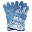 Horizon™ cost-effective split-leather & cotton gloves with safety cuffs. One-size-only for children 5 to 8. Sold in pairs.
