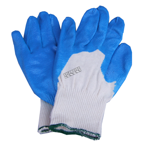 Cotton gloves with nitril coating