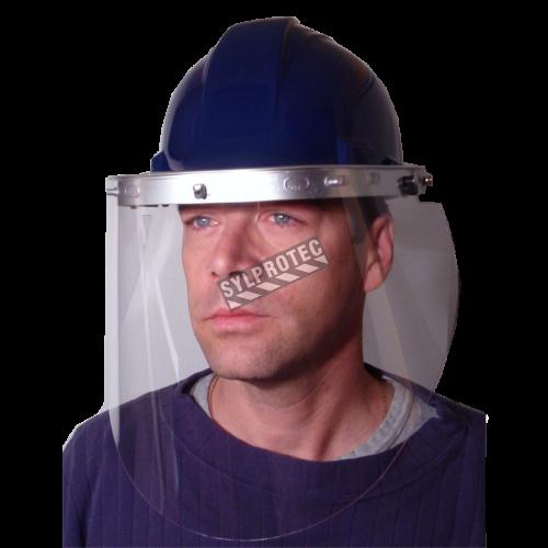 Porte-visière conçu pour casques de sécurité de North pour une protection faciale sur mesure. Visière et casque non-inclus.