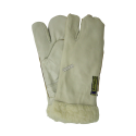 Endura® one-finger cowgrain winter mitt with acrylic lining. Seams sewn on the top. Large one-size-fits-all. Sold in pairs.