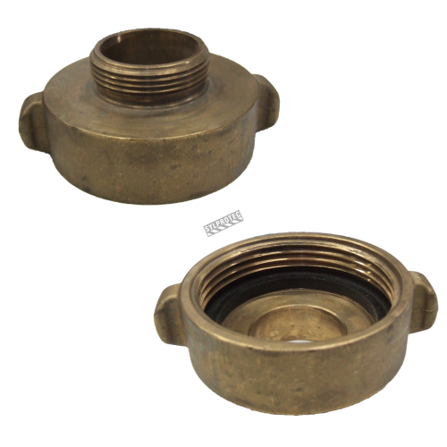 Threaded brass reducer 2.5 inch to 1.5 inch female to male