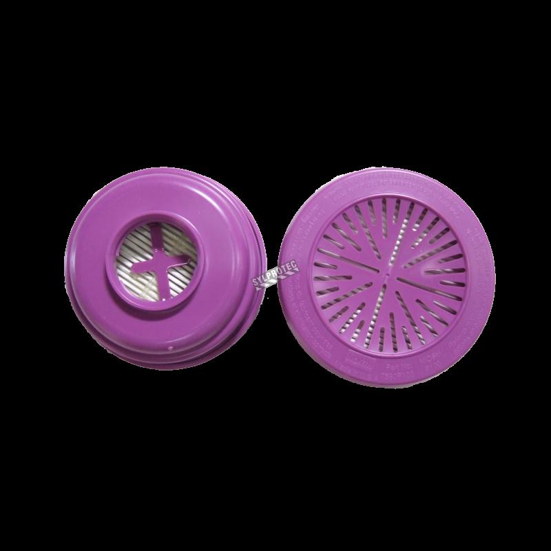 Filtre P100 pour masque de protection respiratoire série 5400, 7600 et 7700 de North. Homologué NIOSH vendu à la paire
