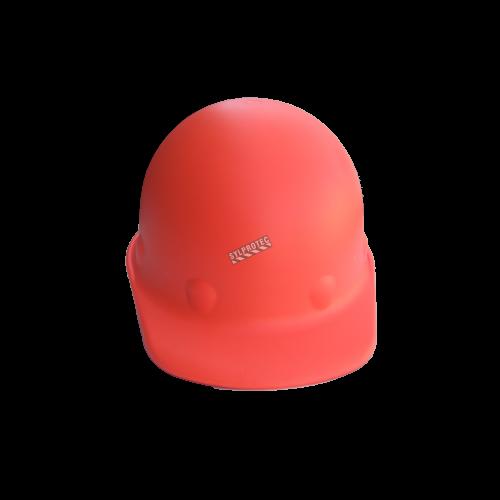 Fibre-Metal Roughneck P2HN heat-resistant orange welding hard hat, with ratchet, certified CSA type I class G.