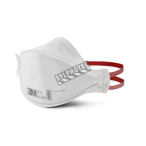 Petit respirateur sans latex N95 de 3M, modèle 1870. Conforme à la norme NIOSH. Conçu pour les établissements de santé.