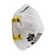 Masque de protection respiratoire 3M. Certifié N95. Efficace contre les particules solides et liquides sans huile. Modèle 8210.