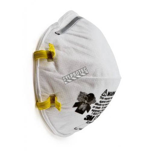 3M N95 NIOSH 42 CFR 84 approved particulate respirator. Model 8210. Protects from solids and non-oil based liquids particles.