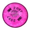 Filtre P100 contre les concentrations nuisibles de vapeurs organiques. Modèle 2097. Vendu à la paire.