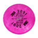 Filtre P100 pour masque de protection respiratoire série 6000, 7000 & FF-400 de 3M. Homologué NIOSH & CSA. Vendu à la paire.