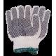 Gant en tricot de coton et de polyester couvert de points de PVC approuvé par l'ACIA. Taille: X-petit (6) à X-large (10)