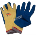 Powergrab® 10-gauge Kevlar knit gloves with a wrinkle-grip latex coating up to the wrist. ASTM/ANSI puncture level 2.