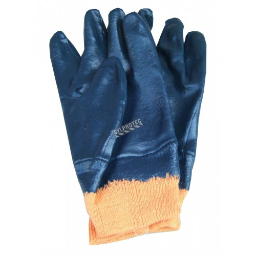 Gloves with nitril coating