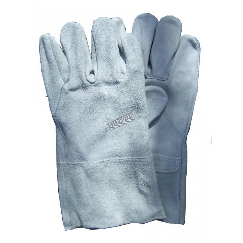 Welder gloves with 4 in. cuffs