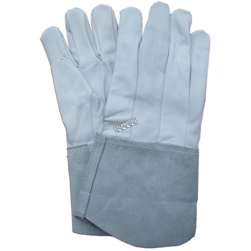 "Welder gloves, Grain sheepskin ""TIG"" et "" MIG""  kevlar"