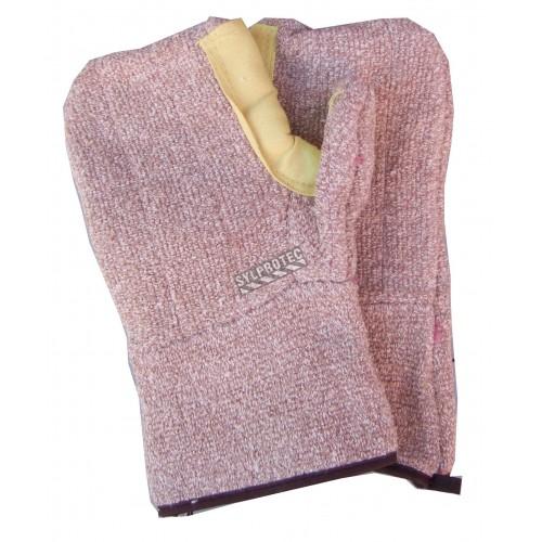 Mitaine Cool Grip® en tricot de coton renforcée de Kevlar® de 12 po de longueur. Résistance thermale niveau 5. Vendu par paire.