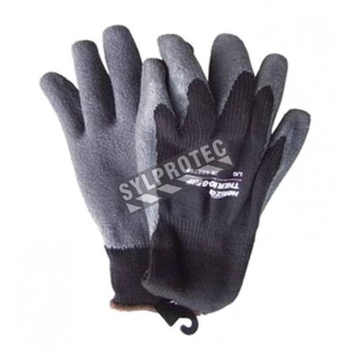 Gants d'hiver Thermo-Grip fait d'acrylique avec enduit de latex