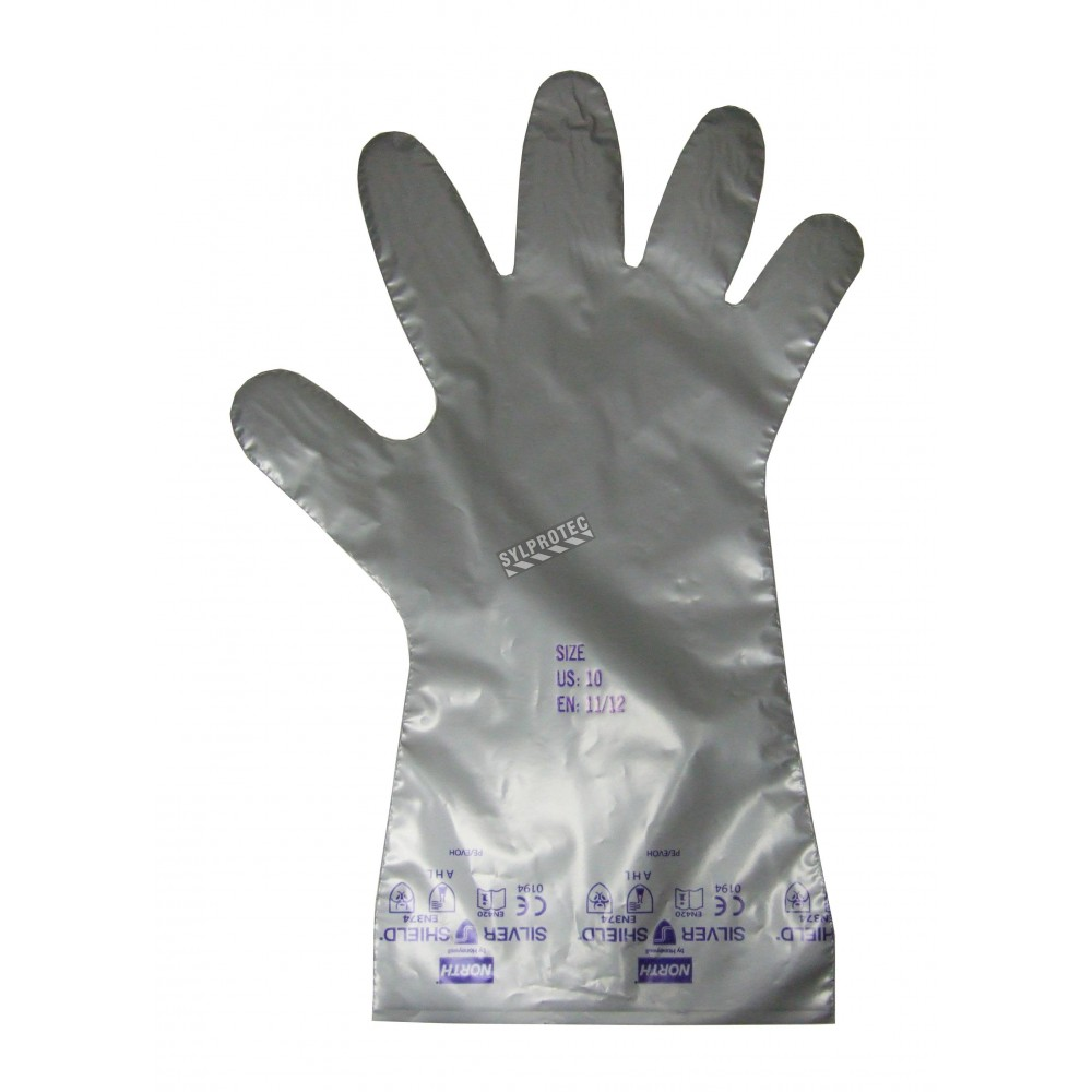 2 7 Mils Silver Shield Powder Free Gloves For Chemical
