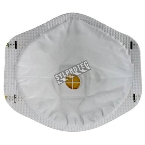 Masque de protection respiratoire 8511 avec valve de 3M, N95. Efficace contre les particules solides et liquides sans huile.