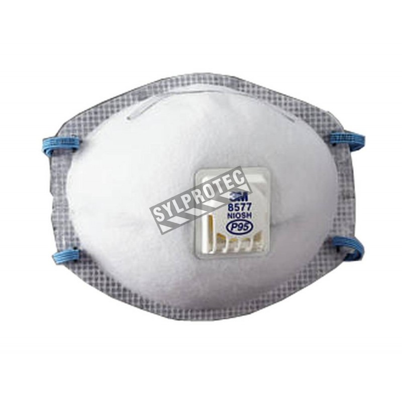 3M P95 NIOSH approved particulate respirator with a Cool FlowTM valve. Protects from solid, liquid and oil based particles.