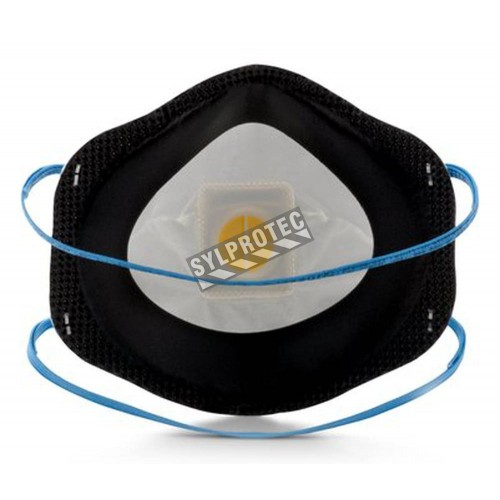 Masque de protection respiratoire P95 avec soupape de 3M. Protection contre les particules solides, liquides et huileuses.