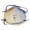 Masque respiratoire P95 avec soupape Cool Flow™ de 3M contre particules huileuses & gaz acides. Vendu par boite de 10 unités.