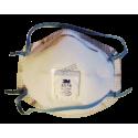Masque P95 de 3M modèle 8576 avec soupape Cool Flow™ contre particules huileuses & gaz acides. Vendu par boite de 10 unités.