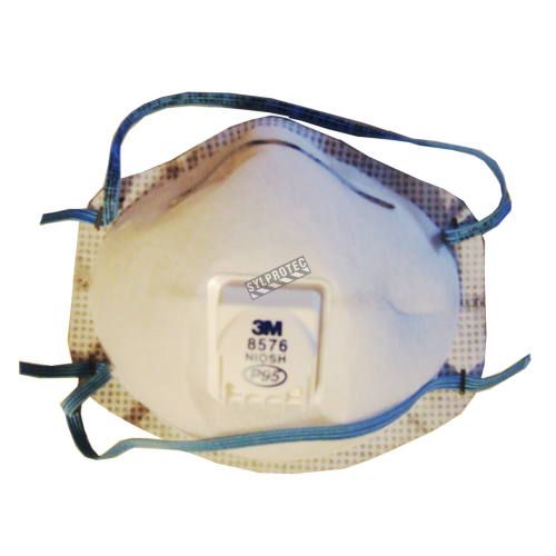 3M P95 NIOSH approved particulate respirator with a Cool FlowTM valve. Protects from oil based particles and acid gases.