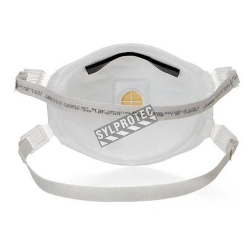 Masque de protection respiratoire ignifuge pour soudeur avec soupape Cool FlowTM de 3M, certifié N95. Étanche et confortable.