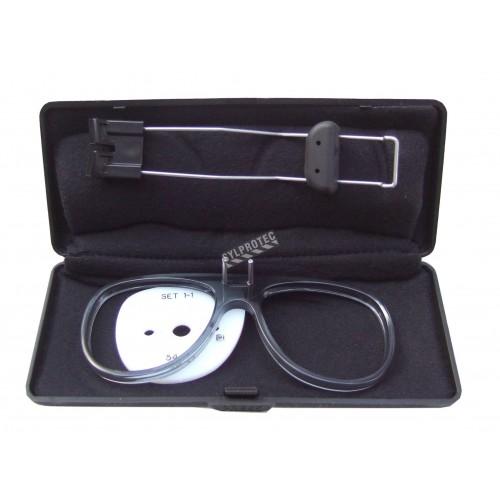 3M ajustable spectacle kit for 3M full facepiece respirators 6000 series. Prescription lenses not included