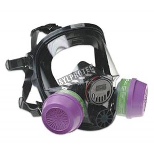 Masque complet de protection respiratoire de série 7600 de North pour filtres & cartouches de série N de North. Taille large.