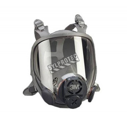 3M 6000DIN series full facepiece for face-mounted powered air purifying respirators and air supplied respirators. Medium size.