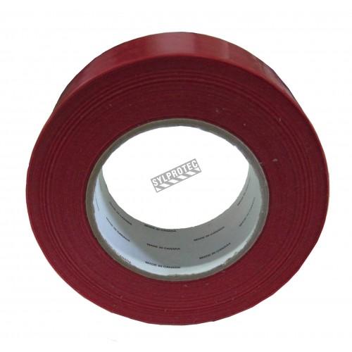 """Ruban adhésif de polyéthylène rouge idéal pour sceller les toiles de confinement lors de désamiantage. Épais.: 7 mil, 2""""x180'."""