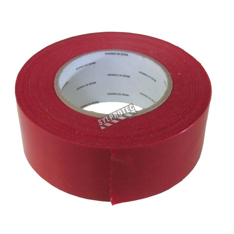 """Red polyethylene adhesive strip, ideal for tight sealing a containment area of decontamination. Thickness: 7 mils, 2""""x180'."""