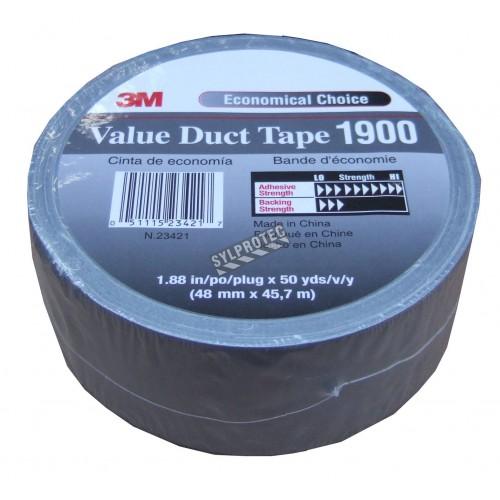 """Ruban adhésif de polyéthylène gris idéal pour sceller les sacs pour déchets dangereux comme l'amiante. Épais.: 9 mil, 2""""x180'"""