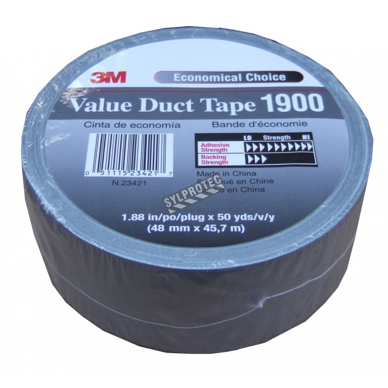 """Silver polyethylene adhesive strip, ideal for tight sealing regulatory bags for hazardous wastes. Thickness: 9 mils, 2""""x180'."""