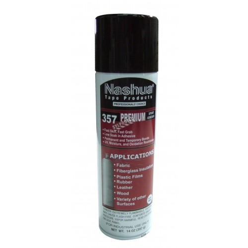 NASHUA 357SA industrial type spray adhesive in a 14 oz. can size. Versatile spray adhesive ideal to patch tarps together.