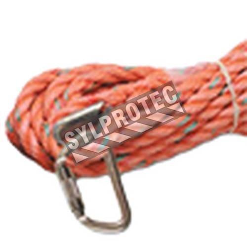 Corde à trois torons en copolymère de North pour lignes de vie verticales. Diamètre: 5/8 po (16 mm)