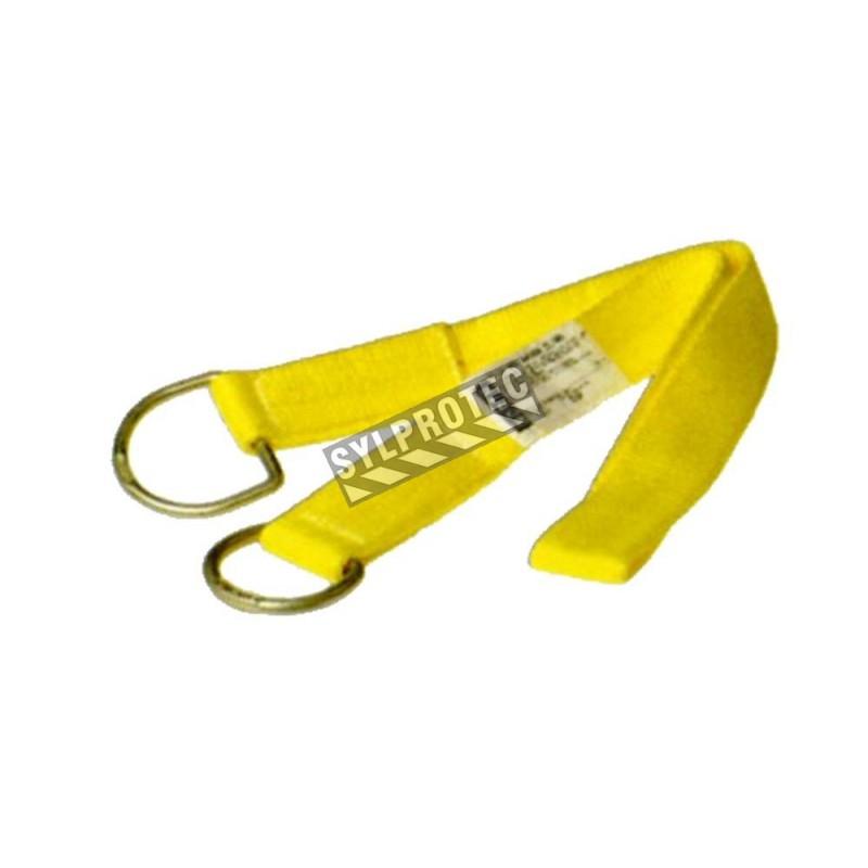 Élingue en nylon par North. Dispositif d'ancrage avec des anneaux en D pour la protection antichute.