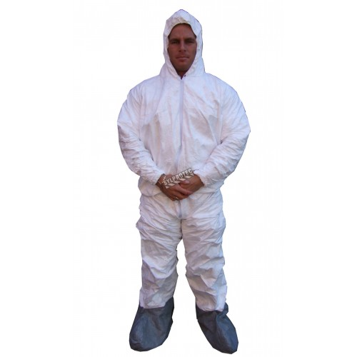 Disposable TYVEK  coverall with hood and boot, box/25 unit