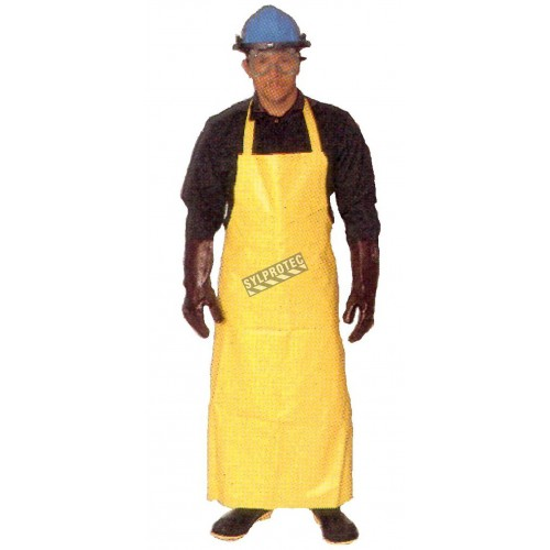 Apron with vinyl bib, P.V.C.  38 in X  48in.