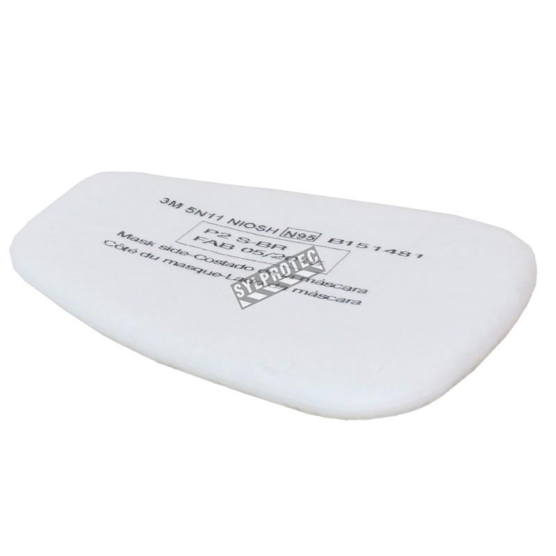 Filtre N95 fait pour le dispositif de retenu 501 de 3M qui se rattache à une cartouche série 6000. Vendu à la paire. 10/boite.